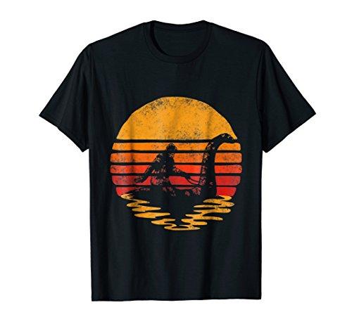 - Bigfoot Sasquatch Riding The Loch Ness Monster Vintage Shirt