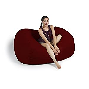 Jaxx 5.5 Foot Bean Bag Loveseat with Microsuede Cover