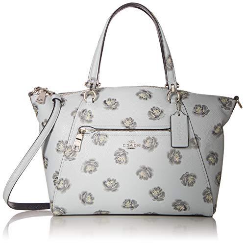 Print Satchel - COACH Women's Rose Print Prairie Satchel Sv/Sky One Size