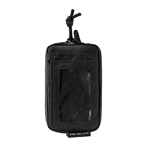 OneTigris Front Pocket Mini Wallet with Waterproof Zippers CASSETTE EDC Pouch 500D Nylon (Black)