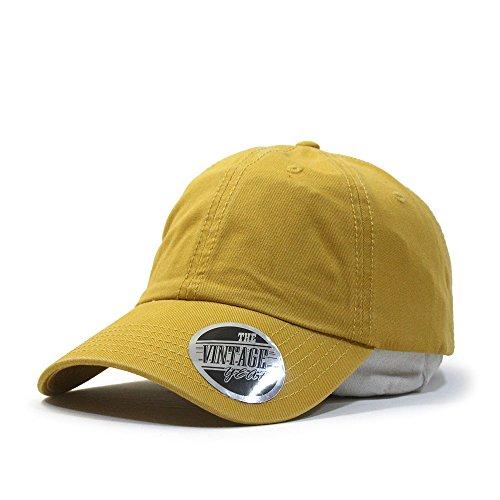 n Twill Low Profile Adjustable Baseball Cap (Mustard) ()