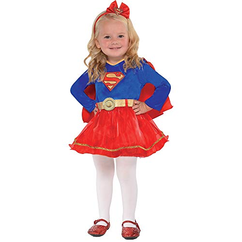 Suit Yourself Superman Classic Supergirl Costume for Babies, Size 6-12 Months, Includes a Dress, a Headband, an a Cape]()