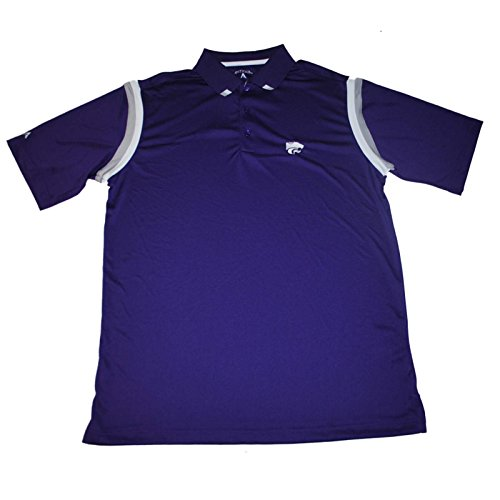 Antigua Kansas State Wildcats Purple Performance Striped Sleeve Polo T-Shirt (L)