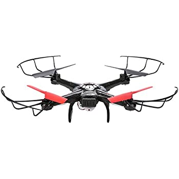COOCHEER JJRC V686K RC Quadcopter Drone  FPV 0.3 MP Wifi Camera Live Video 6-Axis Gyro 4CH 2.4GHZ Headless Quadcopter Black