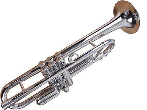 Tromba TP1-SL Plastic BB Trumpet, Silver by Tromba