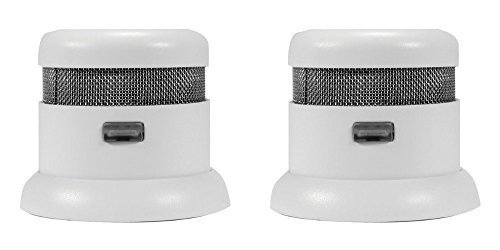 First Alert Atom Micro Photoelectric Smoke and Fire Alarm 2 Pack by First Alert