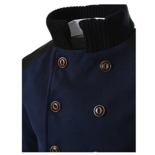 Forthery Clearance Men's Trench Coat Winter Warm Long Jacket Double Breasted Overcoat