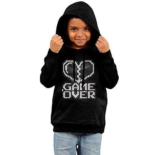 Kid's Game Over Graphic Fleece Hoodie Sweatshirt 3 Toddler