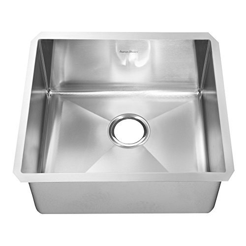 American Standard 18SB.10231800.075 Pekoe Extra Deep Undermount 23x18 Single Bowl Kitchen Sink with included drain and bottom grid, Stainless Steel