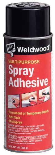 3 Pack Dap 00118 Weldwood Multipurpose Clear Spray Adhesive 16-oz Aerosol (Purpose Weldwood Multi Floor)