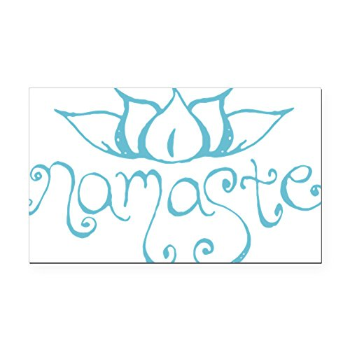 CafePress - Namaste Lotus Flower Rectangle Car Magnet - Rectangle Car Magnet, Magnetic Bumper Sticker (Namaste Magnet)