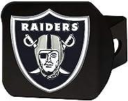 FANMATS 22598 NFL - Las Vegas Raiders 3D Metal Color Emblem on Black Hitch Cover,Type III