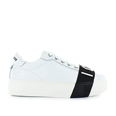 82d590d2bba2 Women s Shoes Dsquared2 Icon White Sneaker Fall Winter 2019  Amazon.co.uk   Shoes   Bags