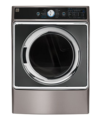 Kenmore Elite 81963 9.0 cu. ft. Front Control Electric Dryer with Accela Steam in Metallic Silver, includes delivery and hookup