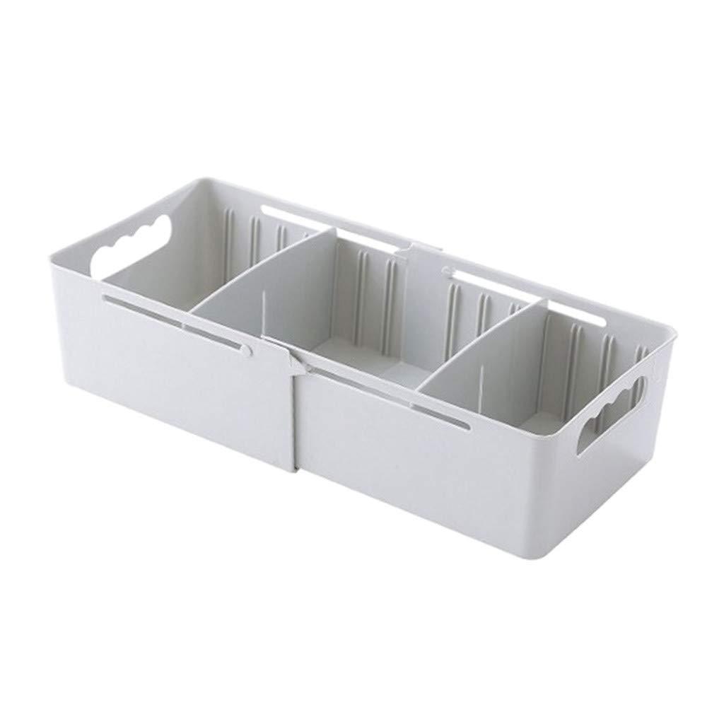 Staron  Storage Box Plastic Socks Underwear Finishing Box Desktop Storage Drawer Storage (Gray)