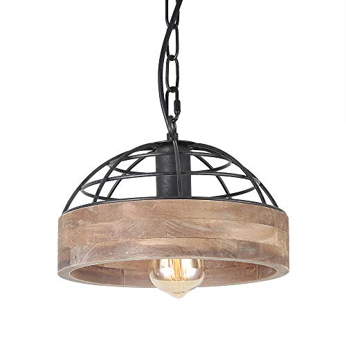 Anmytek P0027 Wood Ceiling Pendant Light, Brown -
