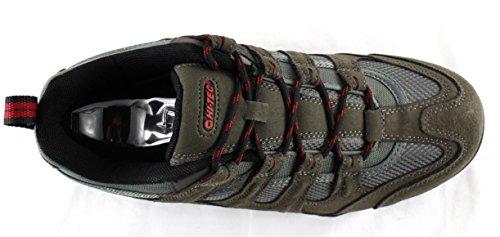 Hi-Tec - Zapatillas para hombre gris Grey Black Red