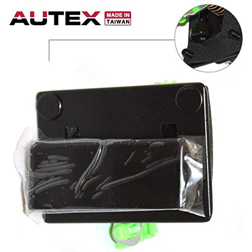 (AUTEX Exterior Rear Left Cargo Driver Side Door Handle Compatible with Chevrolet Express,GMC Savana,Chevy Astro,GMC Yukon 96-17 77498)