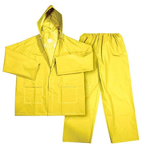 Galeton 11906-L-YW Repel Rainwear .22 mm EVA 2-Piece Ultra-Lightweight Rain Suit, Pants with Fly, Large, Yellow
