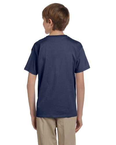 (Fruit of the Loom Boys Heavy Cotton HD 100% Cotton T-Shirt, Large, Denim)