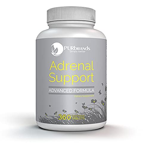 Adrenal Support - Advanced Vegetarian Formula ~ Naturally Boost Adrenal Gland Function, Balance Cortisol & Address Adrenal Fatigue (360 - Adrenal Boost