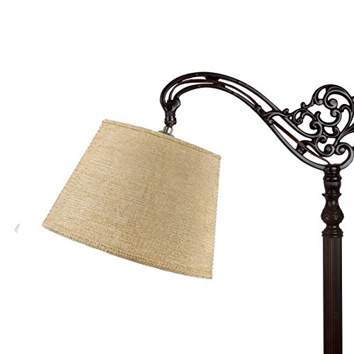 Upgradelights Natural Beige Burlap 10 Inch Uno Lampshade Replacement 6x10x7.5 ()