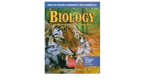 Biology: Principles and Explorations (Directed Reading Worksheets ...