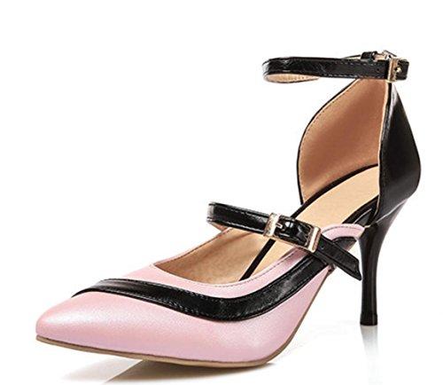 YCMDM donne grandi taglia talloni a punta di punta di pattini moda passerella appuntamenti scarpe partito Scarpe di Charme scarpe da Corte , pink , 32 custom 2-4 days do not return