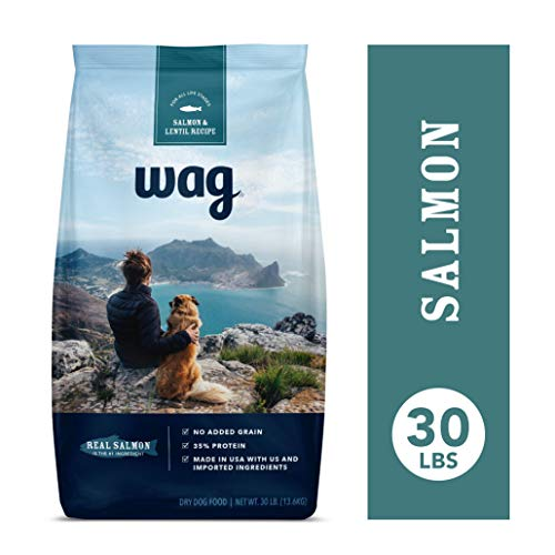 Amazon Brand - Wag Dry Dog Food Salmon & Lentil Recipe (30 lb. Bag)