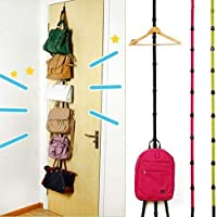 Sunlight House Over Door Straps Hanger Hooks Adjustable Hat Bag Coat Clothes Rack Organizer Closet Door Bag Hanger
