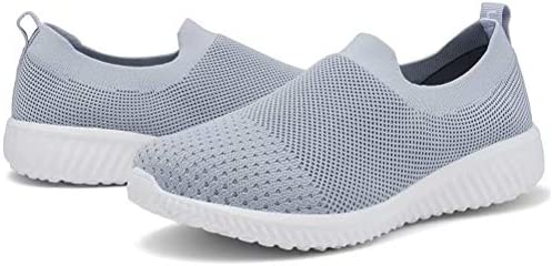 LANCROP Women's Sock Walking Shoes - Comfortable Mesh Slip on Easy Sneakers