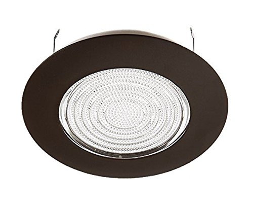 NICOR Lighting 6-Inch Non-IC Rated Lexan Shower Fresnel Lens Trim for 17011EBM and 17011, Oil-Rubbed Bronze (17502OB) Lens Shower Recessed Light Trim