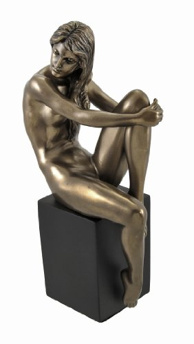 UPC 728917289232, Bronzed Nude Female Posing Seated on Plinth