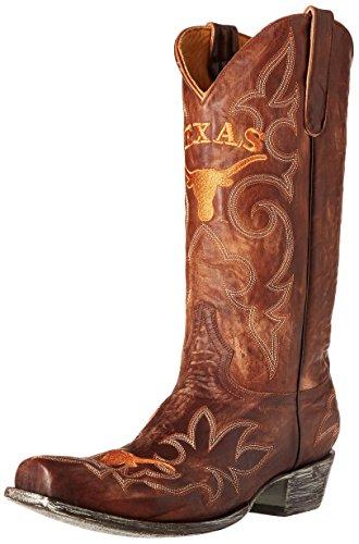 NCAA Texas Longhorns Men's Gameday Boots, Brass, 9.5 D (M) US
