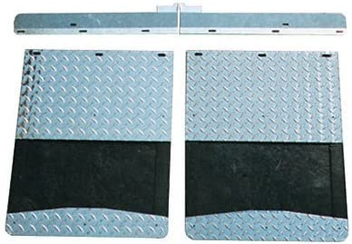 D726SET Mud Flap Set for Select Ford Dually Trucks Go Industries Inc with Flaps Diamond Stiffeners and Diamond Weights Brackets