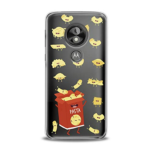 Lex Altern TPU Case Motorola Moto G7 One P30 Play Note Z3 G6 E5 Plus Clear Cute Pasts Box Red Hungry Yellow Funny Macaroni Silicone Cover Protective Flexible Girls Kawaii Design Women Transparent -