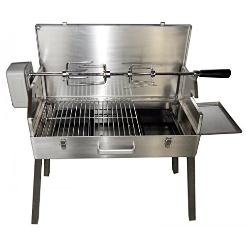 SunshineBBQs Portable Stainless Steel Charcoal BBQ with