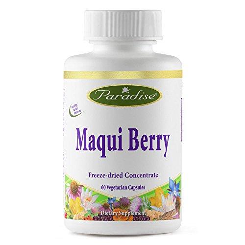 Dry Eyes Herbs - Paradise Herbs Maqui Super Vegetarian Capsules, Berry, 60 Count