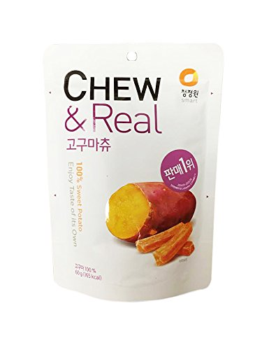 CJW 100% Dried Sweet Potato Chew Snack 2.11 Oz. (Pack of ()