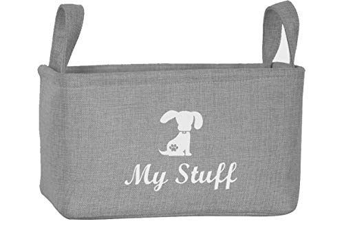 Morezi Canvas Pet Toy and Accessory Storage Bin, Basket Chest Organizer – Perfect for Organizing Pet Toys, Blankets, Leashes and Food