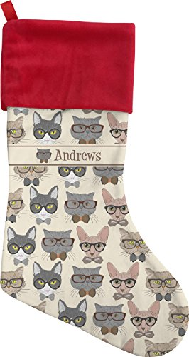 Animal Christmas Stockings - Hipster Cats