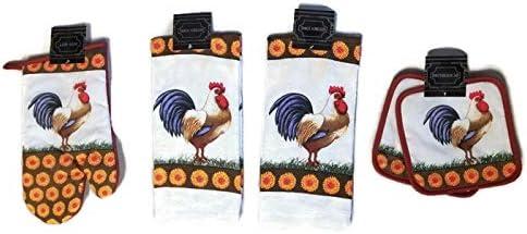 Sunflower Rooster Designer Kitchen Holders