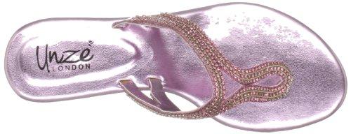 Unze Evening Sandals L18393W - Sandalias para mujer Rosa