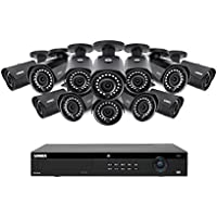 Lorex 16 Channel 4K 4MP IP Security System with NR9163 NVR and 12 4MP LNB4421B Bullet Cameras 4MP IP Cameras, Color Night Vision LN10804-1612W
