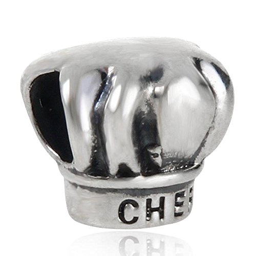 I Love Cooking Chef Hat Charm Cap Beads fit for Women Charms Bracelets Cap Bracelet Charm