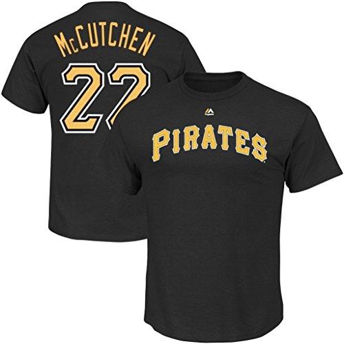 Player Number Mlb Name Mens (VF Pittsburgh Pirates MLB Majestic Andrew McCutchen Player Shirt Black Big & Tall Sizes (4XL))