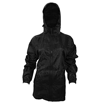 Amazon.com: Womens/Ladies Hooded Packaway Mac / Rain Jacket (14 US