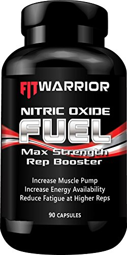 NITRIC OXIDE Rep Booster, 90 Capsules, L-Arginine, L-Arginine, Citrulline Malate – Powerful Preworkout NO Booster for Immediate Visible Increase in Muscle Pump, Growth, Vascularity, and Endurance