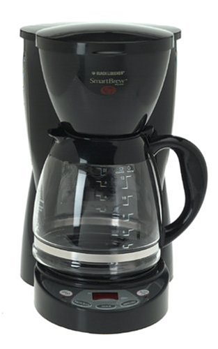 Black & Decker DCM2500B SmartBrew Coffeemaker, White