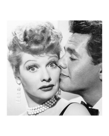 Poster Print Glossy Lucille Ball & Desi Arnaz I Love Lucy